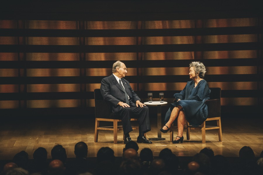 Adrienne Clarkson Prize for Global Citizenship. Pictured: His Highness the Aga Khan and Adrienne Clarkson