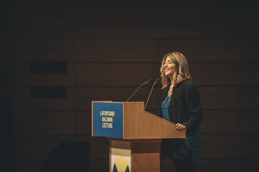 Naomi Klein delivers LaFontaine-Baldwin Lecture