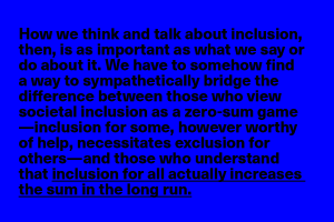 How we think and talk about inclusion